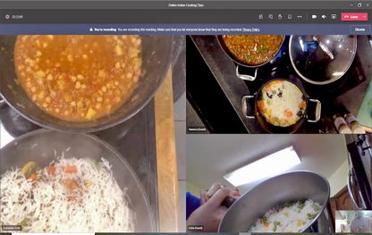 Online Indian cooking class