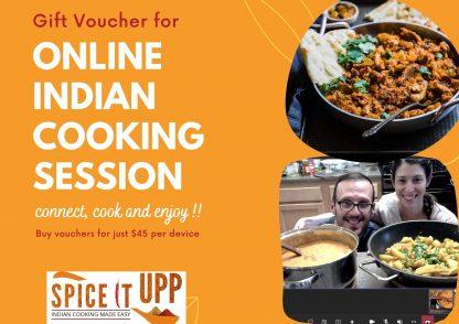 Online Indian cooking Class Gift Voucher